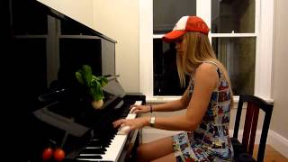 Lara plays the Super Mario 2 theme on piano