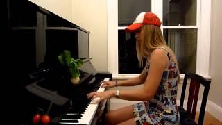 Lara plays the Super Mario 2 theme on piano