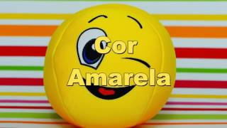 Vídeo para bebés e Crianças - Aprender as cores - cor amarela português PT