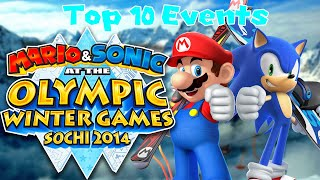 Top 10 Mario & Sonic at the Sochi 2014 Olympic Winter Games Events