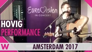 """HOVIG """"Redemption Song"""" (Bob Marley cover) LIVE at Eurovision in Concert Welcome Party"""