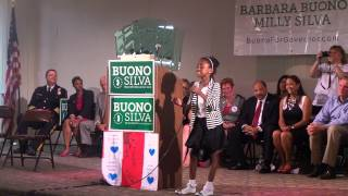 Barbra Buono for governor rally  Now Behold The Lamb cover by  K JACKMAN