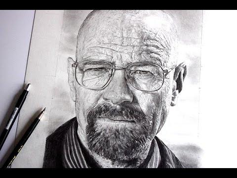 Comment dessiner un visage réaliste - portrait de Walter White