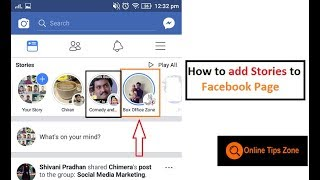 How to add Stories to Facebook Page