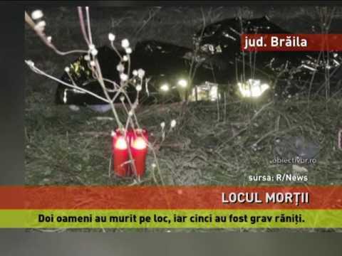 Accident mortal pe o șosea din județul Brăila