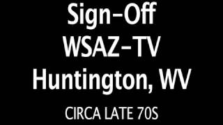 WSAZ TV Sign Off Late 70s