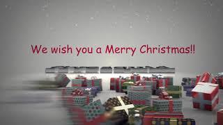 3d christmas robotic intro video
