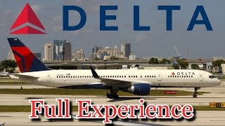 Delta Air Lines First Class Full Experience - FLL-DTW