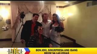 Bon Jovi surprises fan on Vegas wedding