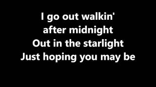 Lyrics~Walkin' After Midnight-Patsy Cline