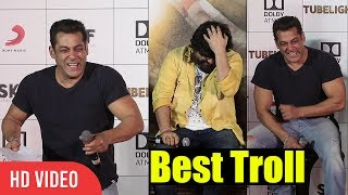 Salman Khan Trolls Pritam | Can't Stop laughing | Tubelight Official Trailer Launch
