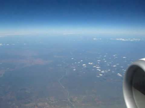 Flying across the Limpopo River from S Africa to Zimbabwe