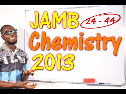 JAMB CBT Chemistry 2013 Past Questions 24 - 44