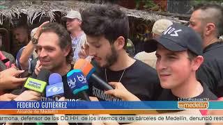 Federico Gutiérrez y Sebastián Yatra recorrieron la Comuna 13 [Noticias] - Telemedellín