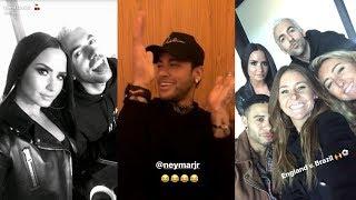 Demi Lovato | Snapchat Story | 14 November 2017 w/ Neymar Jr [England v Brazil]