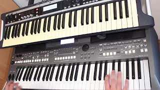 Space Just Blue Yamaha PSR s670 Korg x50 Cover