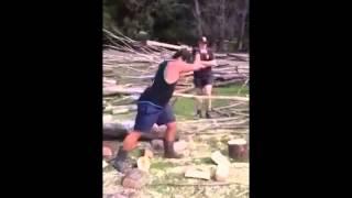Aprenda como cortar lenha