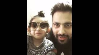 BADSHAH with cute baby | Live songs