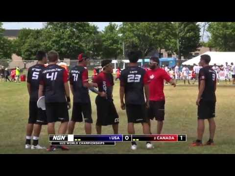 Video Thumbnail: 2013 WFDF World U-23 Championships, Men's Gold Medal Game: USA vs. Canada