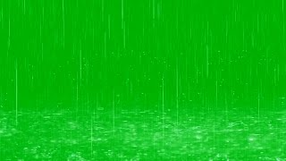 Raindrops Fall in Puddles - Green Screen Effect