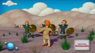 Historinha Davi e Golias - Biblinha Animada