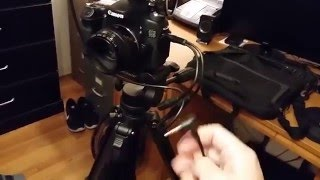 How to listen to audio while recording on Canon 70D