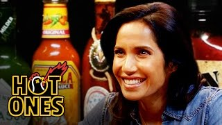 Padma Lakshmi Gracefully Destroys Spicy Wings | Hot Ones width=