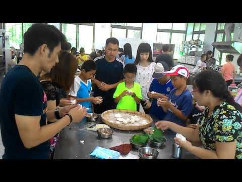 花蓮縣中正國小403班親會食農教育及米食製作搓湯圓和包菜包體驗 7 - YouTube