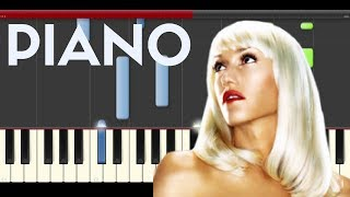Gwen Stefani Misery  piano cover midi tutorial sheet partitura how to play tocar