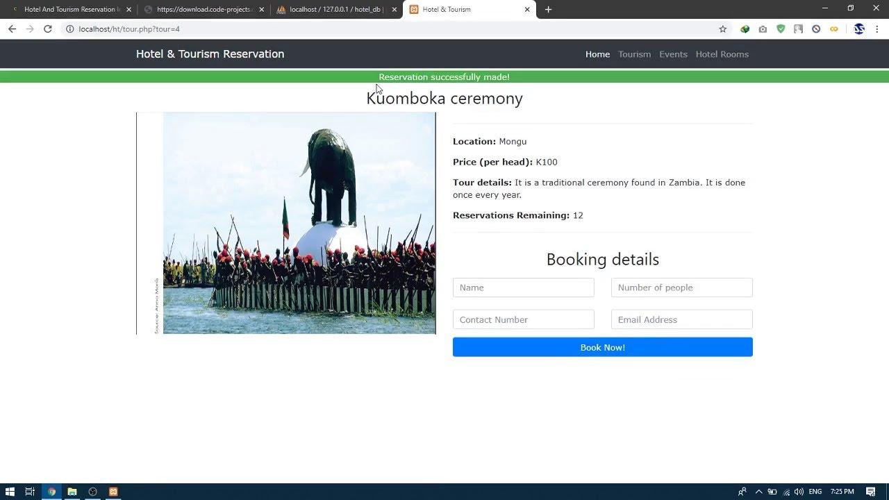 Script de Réservation hôtelière et touristique en PHP avec code source