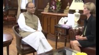 Australian Foreign Minister Meets  Arun Jaitley, Talks Ceca
