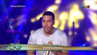 """Romeo Santos cantó """"Tuyo"""" - Susana Giménez 2017"""