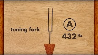 432Hz (Verdi A) Tuning fork for musicians