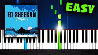 Ed Sheeran - Perfect - EASY Piano Tutorial by PlutaX