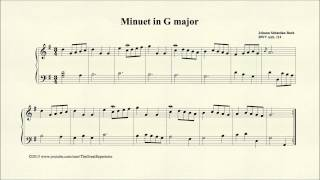 Bach, Minuet in G major, BWV Anh 114, Piano
