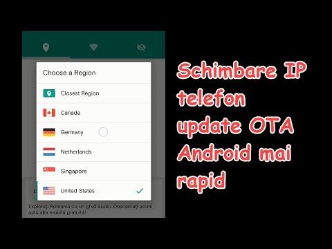 Schimbare IP telefon pentru update Android OTA mai rapid