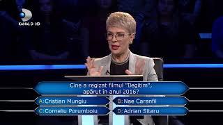 "Vrei sa fii milionar? (19.11.2018) - Cine a regizat filmul ""Ilegitim""? Luni - marti, de la 22:30!"