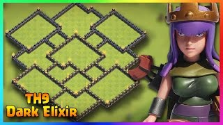 """Town Hall 9 New Best DARK Elixir Farming Base (TH9 DE Protection) 