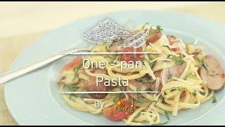 One-pan Pasta สูตรอาหาร วิธีทำ แม่บ้าน