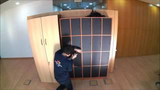 Aplicação de vinil de ardósia sobre armário