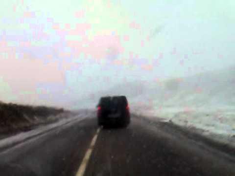 Snow road crossing Tichka Atlas Mountains from Ouarzazate to Marrakech Morocco – Part 4