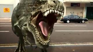 Fxguru - Dinossauro na rua.