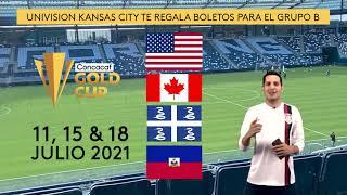 Unvision regala boletos para todos los juegos de la Copa Oro Grupo B del 11, 15 y 18 de Julio
