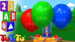 TuTiTu Preescolar | Aprender Los Colores en Ingles para Niños | Máquina de globo width=