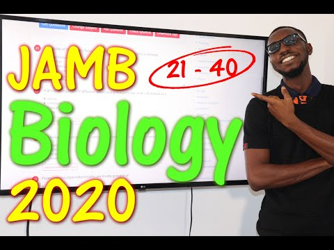 JAMB CBT Biology 2020 Past Questions 21 - 40
