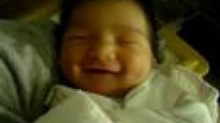 Baby Ethan laughing in his sleep just hours after birth!