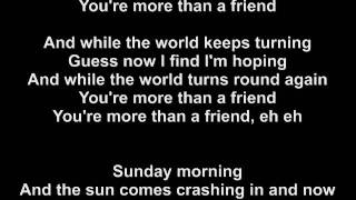 Robin Schulz ft. Nico Santos - More Than A Friend / LYRICS