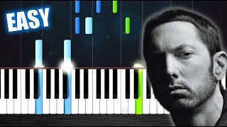 Eminem - River ft. Ed Sheeran - EASY Piano Tutorial by PlutaX