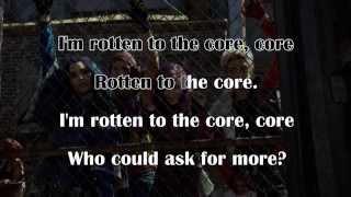 DESCENDANTS - Rotten to the Core (KARAOKE) - Instrumental with lyrics on screen