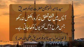Quote | Hazrat Abu Bakar Siddique (RA) | 24 May 2018 | 92NewsHD
